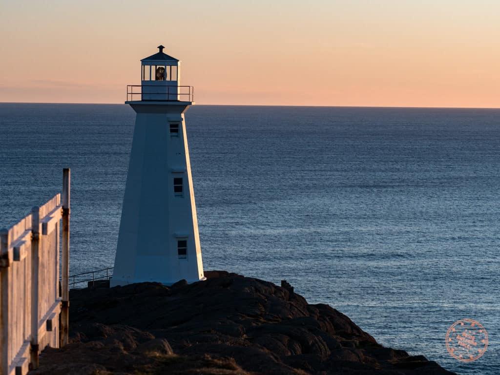 cape spear lighthouse at sunrise