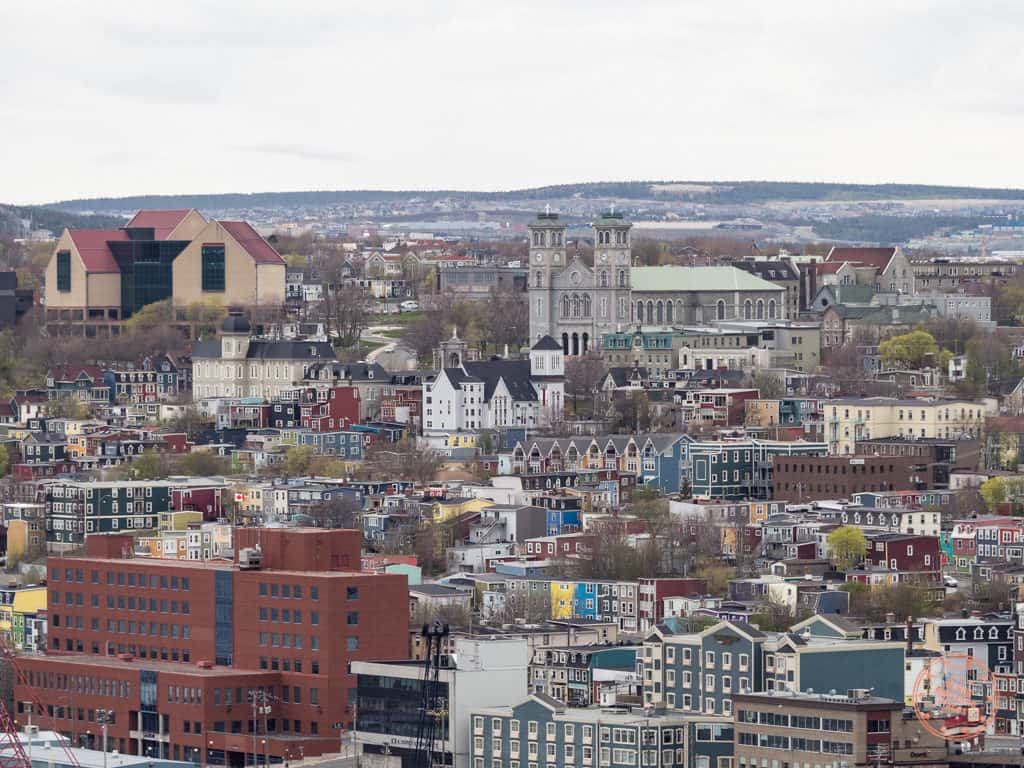 downtown st john's on a hill