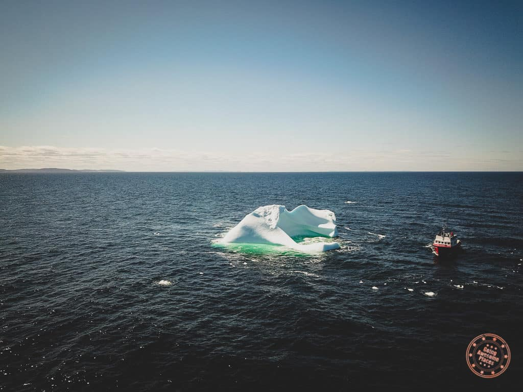 iceberg sighted offshore from bonavista drone