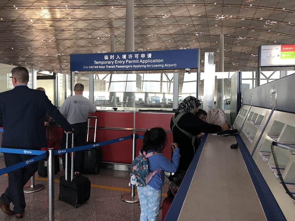 pek beijing 144 hour transit visa passenger desk