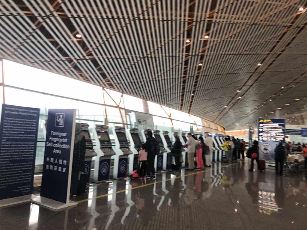 pek beijing foreigner fingerprint station area