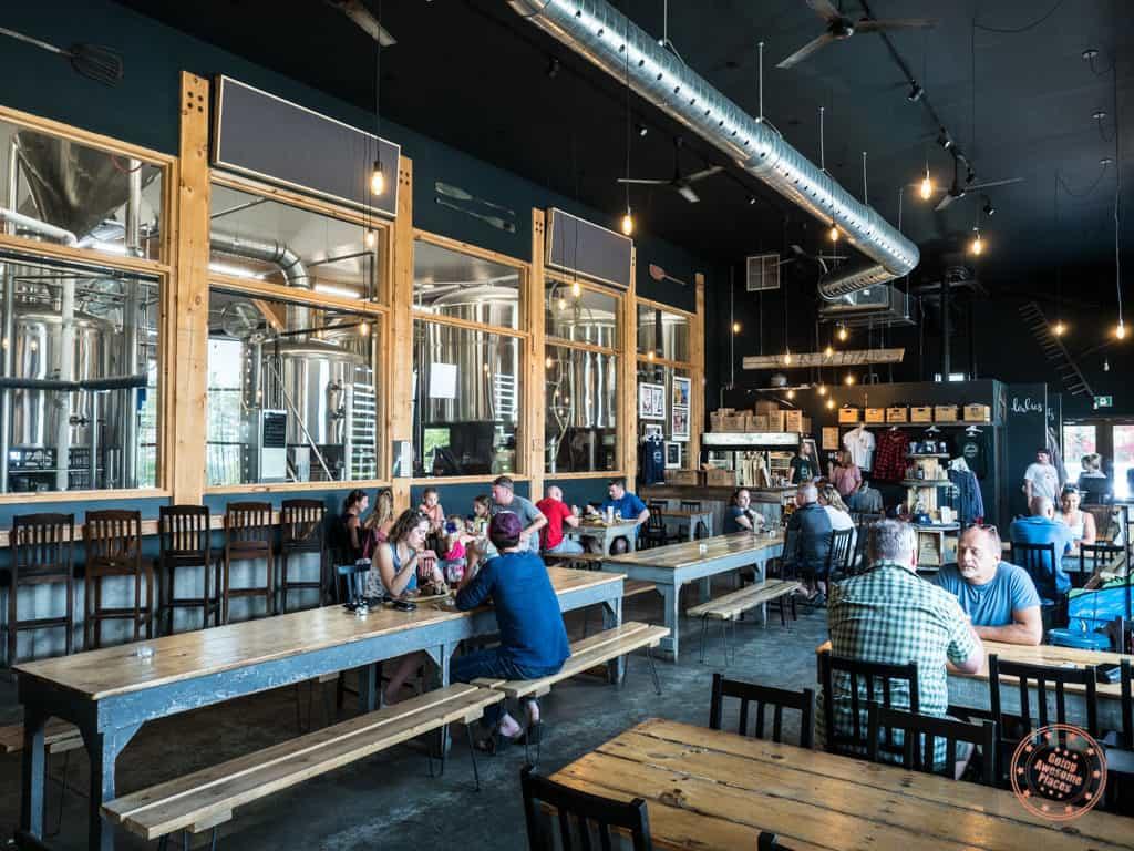interior whitewater brewing company brew pub