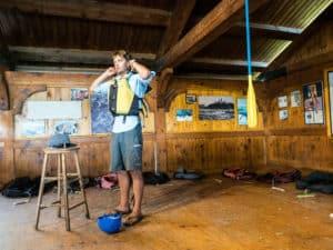 morning safety briefing at owl rafting