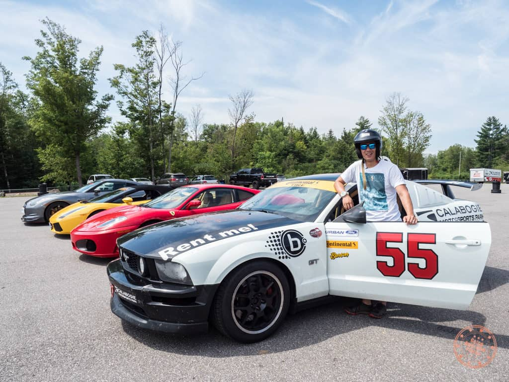 going awesome places doing the mustang race car experience