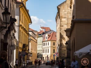 cobblestone streets of old prague photography