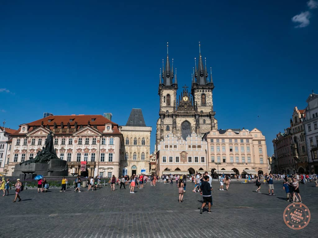 prague old town square photography