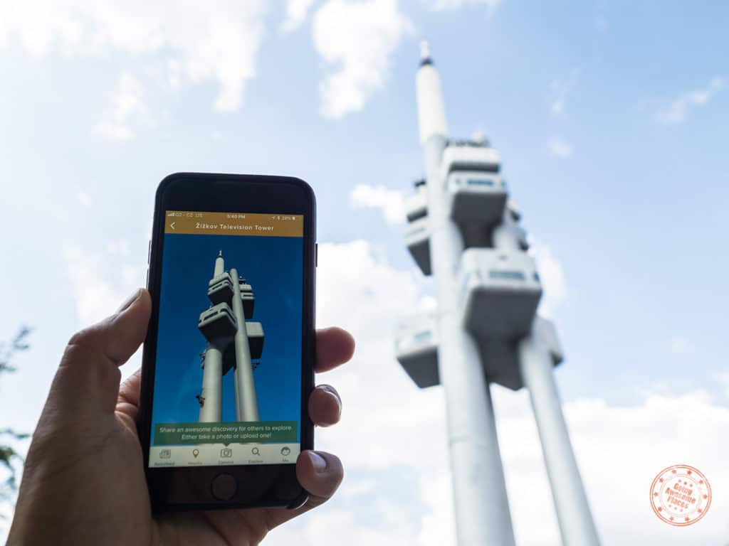 zizkov television tower in prague inspired by trover app