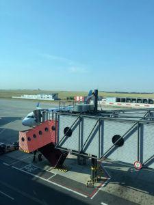 euro wings airplane at prague airport
