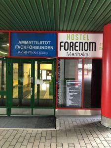 forenom hostel helsinki entrance