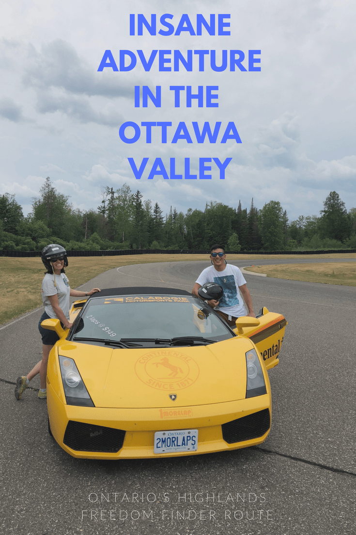 Right in Toronto\'s backyard is a region called Ontario\'s Highlands. In this area that covers a lot of space, one of the most interesting is right along the Ottawa Valley which is home to some of the most thrilling activities in the province. Inside you\'ll find the full itinerary including whitewater rafting and racing Mustangs on a track. #ComeWander #OntariosHighlands #whitewaterrafting #DiscoverON #OttawaValley #Calabogie