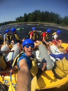 selfie while whitewater rafting with owl rafting