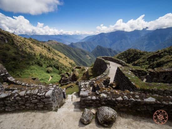 impressive ruins along the trail