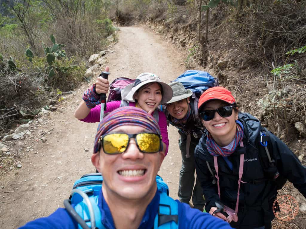 inca trail private tour with friends
