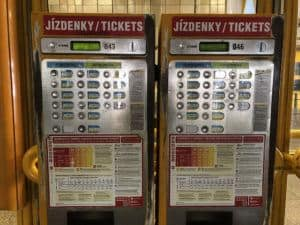 prague metro ticket machine