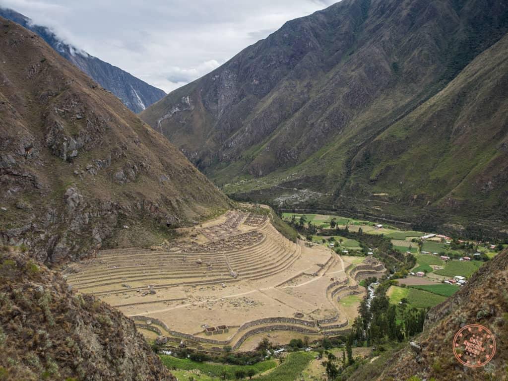 ruins of terraces in peru