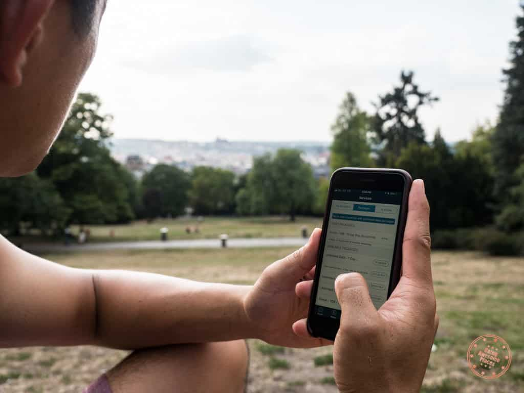 using knowroaming app while in czech republic