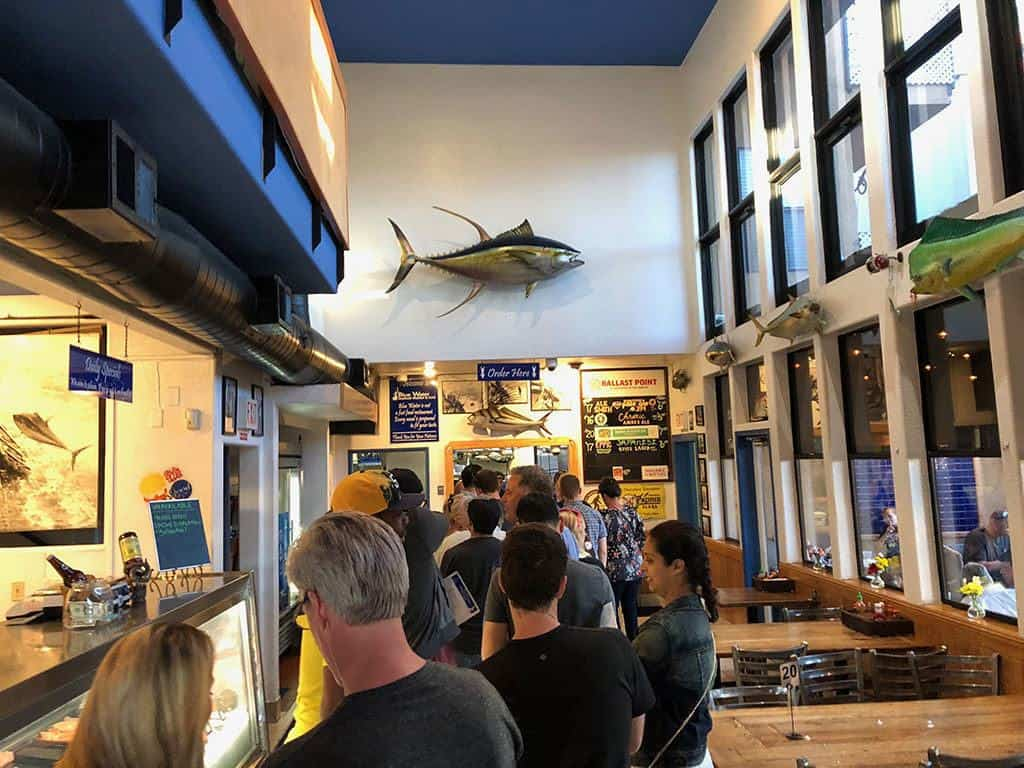blue water seafood restaurant in san diego line up