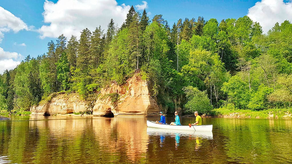 canoeing in gauja river