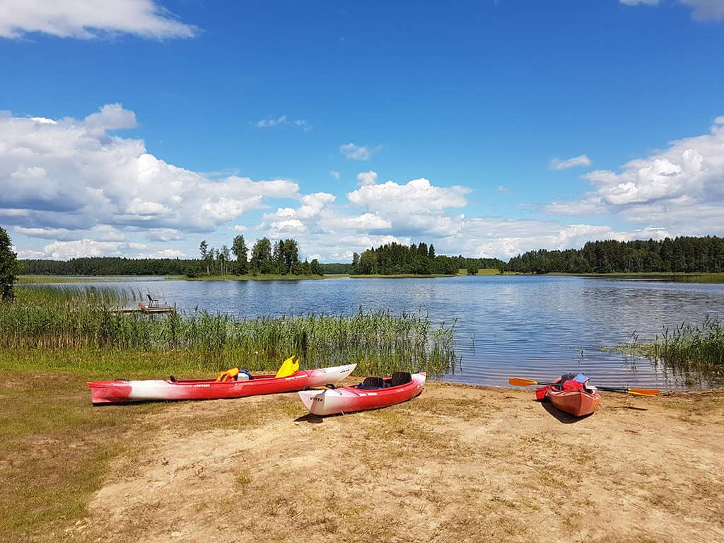 kayaking in the lakes of eastern latvia in latgale