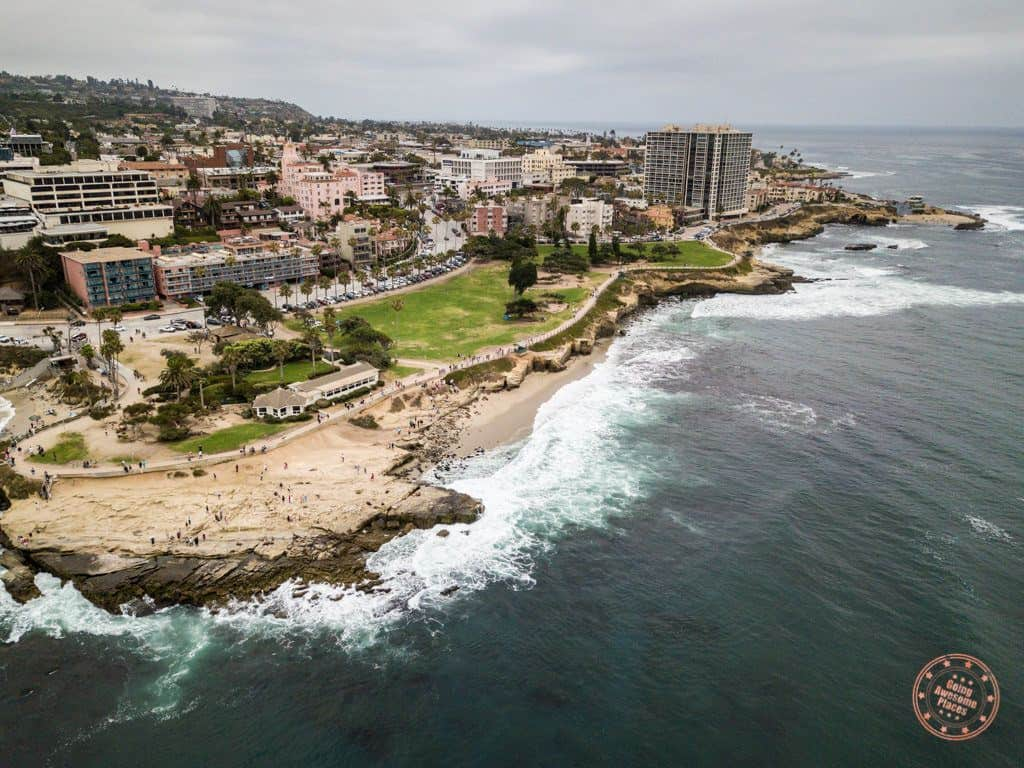 la jolla beautiful aerial view of rugged coastline