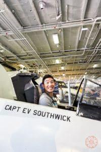 uss midway cockpit simulator fun