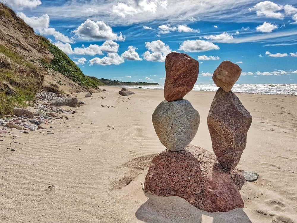 western coast open baltic sea rocks