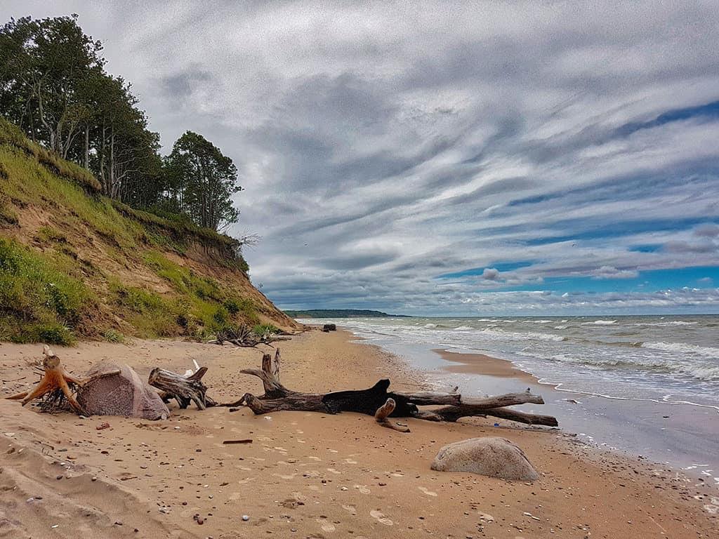 western coast open baltic sea sandy beach