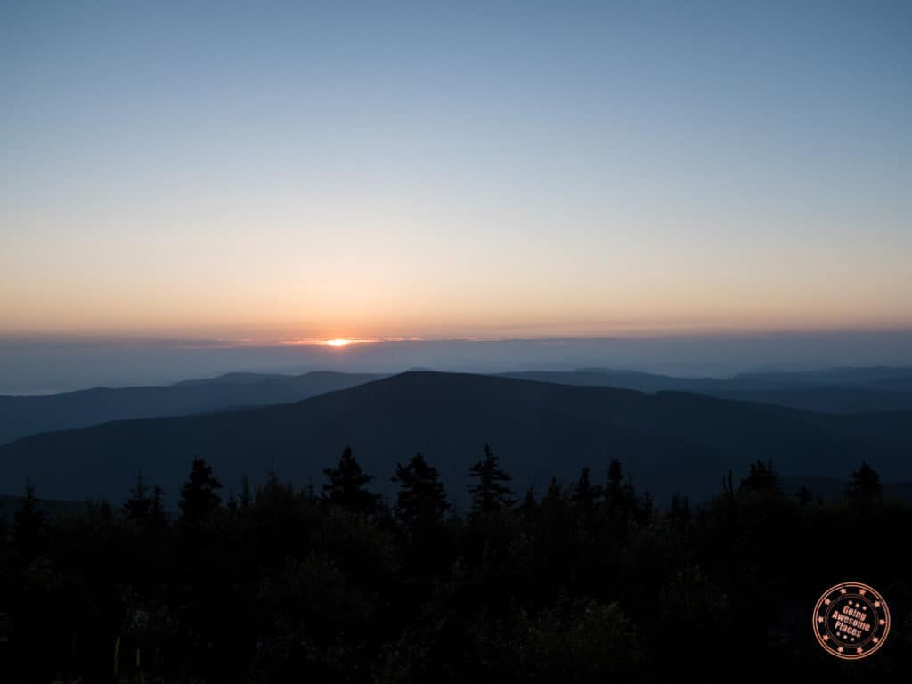 sunrise in the beskydy mountains in the czech republic