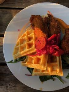 chicken and waffles at berta emil richard schneider