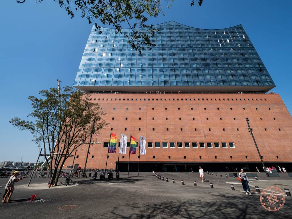 elbphilharmonie exterior entrance in hamburg 1 day itinerary