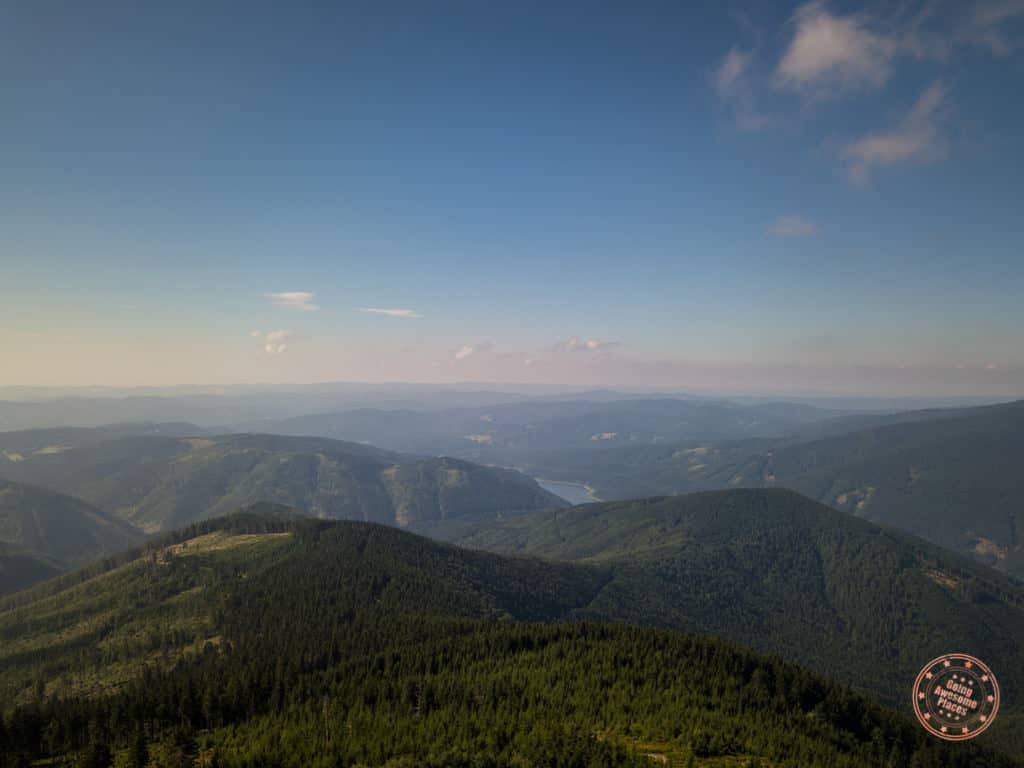 landscape view from lysa hora peak of beskydy mountains