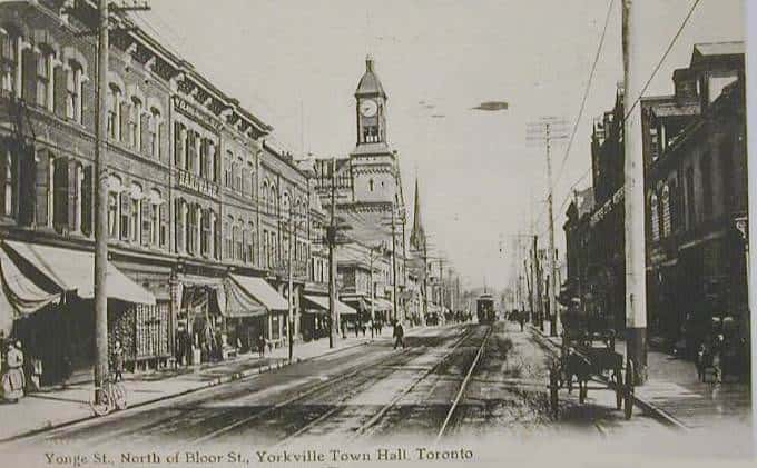yonge street in yorkville historical photo from 1907
