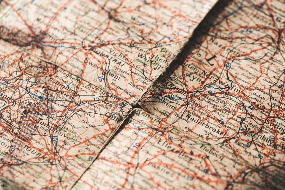aged map for travel