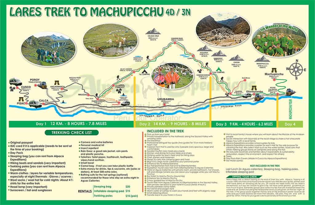 alpaca expeditions lares trek 4d3n machu picchu hike