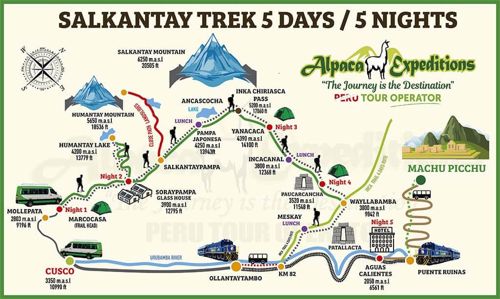 alpaca expeditions salkantay trek 5d5n machu picchu hike