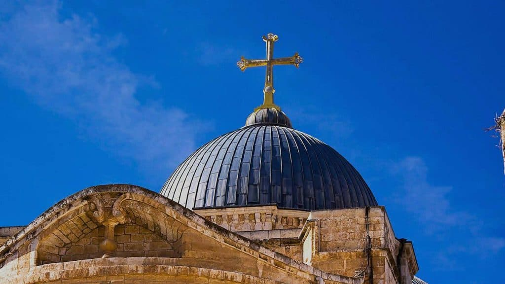 blue dome in ashod jerusalem israel