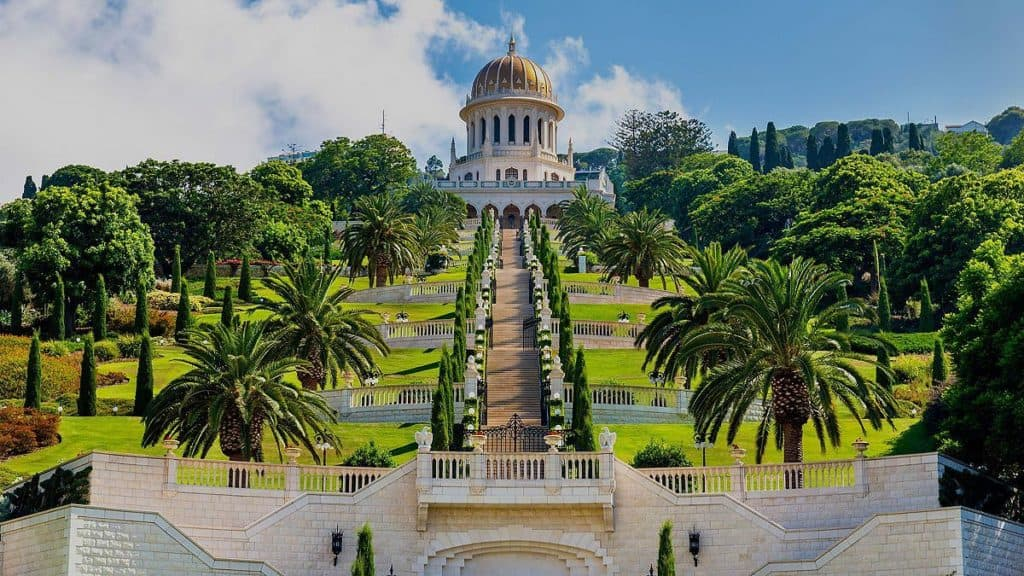 shrine of the bab bahai in haifa israel