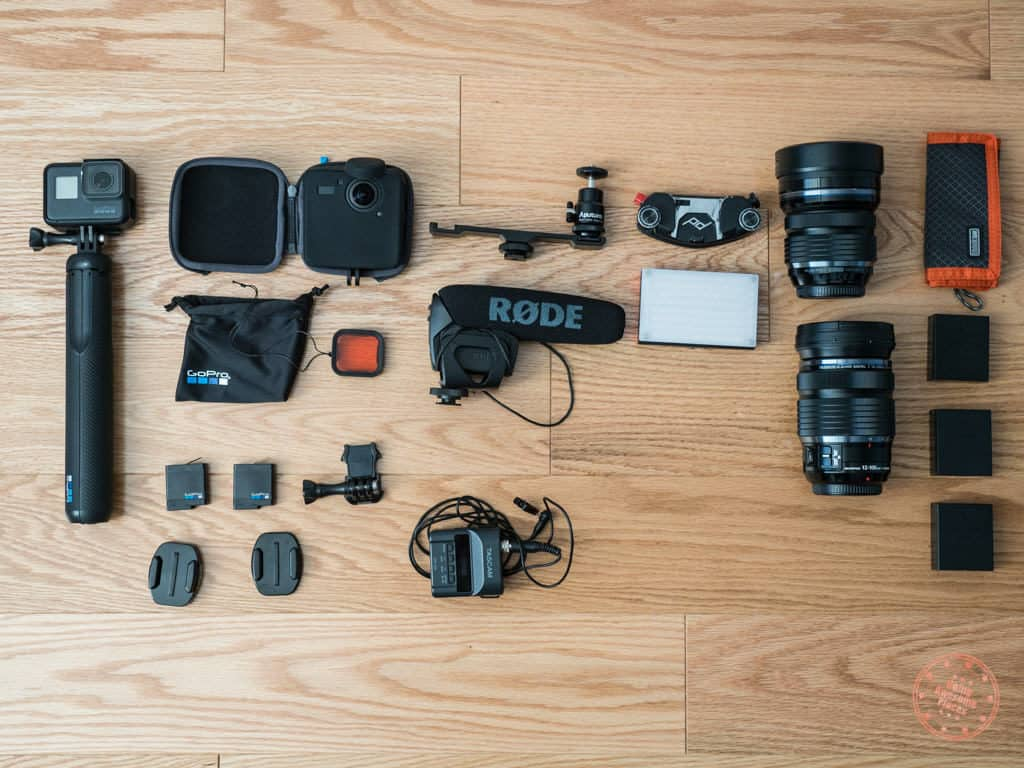 camera gear for trip to new zealand