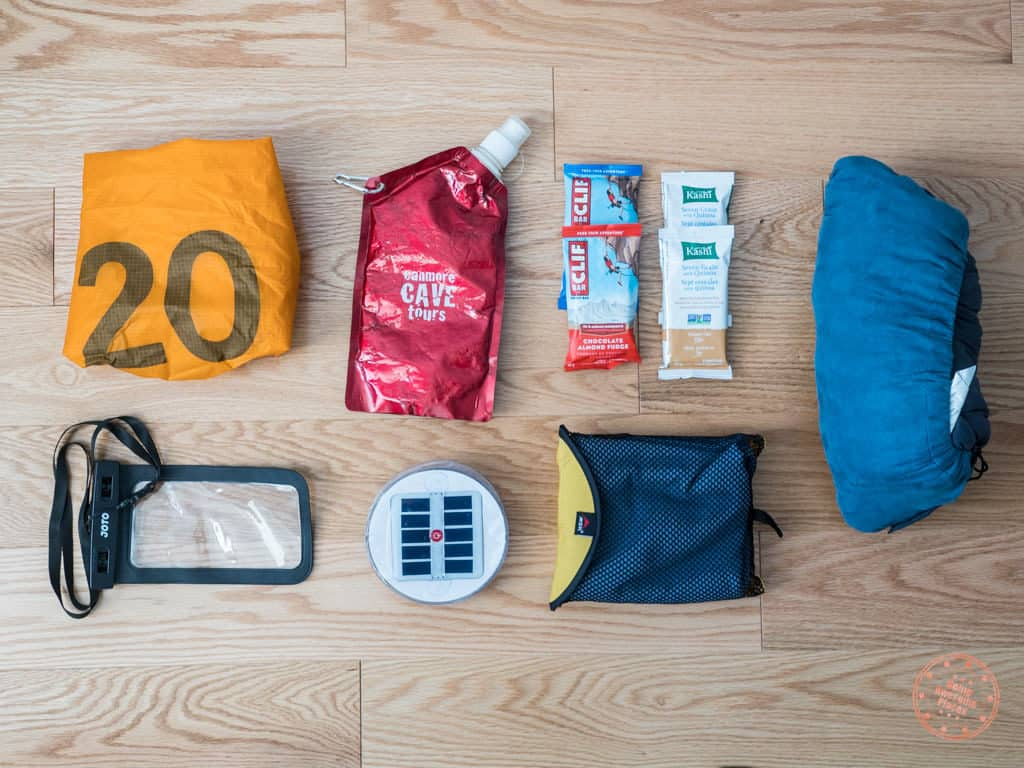 miscellaneous items packed for new zealand