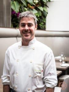 chef geoff webb from sassafraz in yorkville toronto