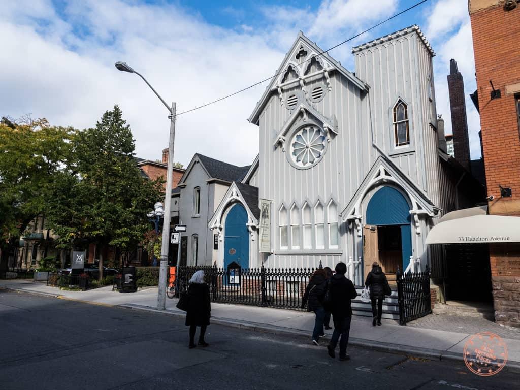 helconian club church on hazelton in yorkville