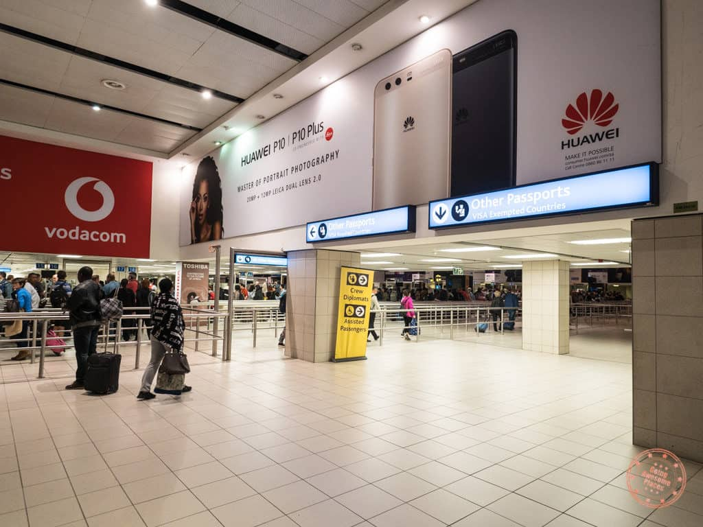 johannesburg south africa arrivals visa exempted passports safari trip planning