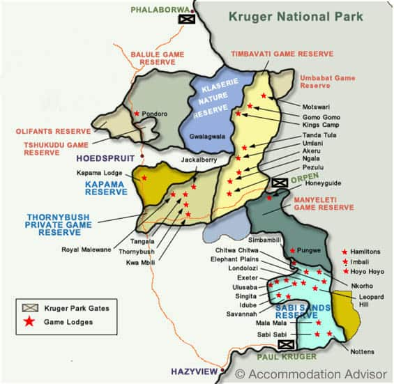 private reserves surrounding kruger national park in south africa