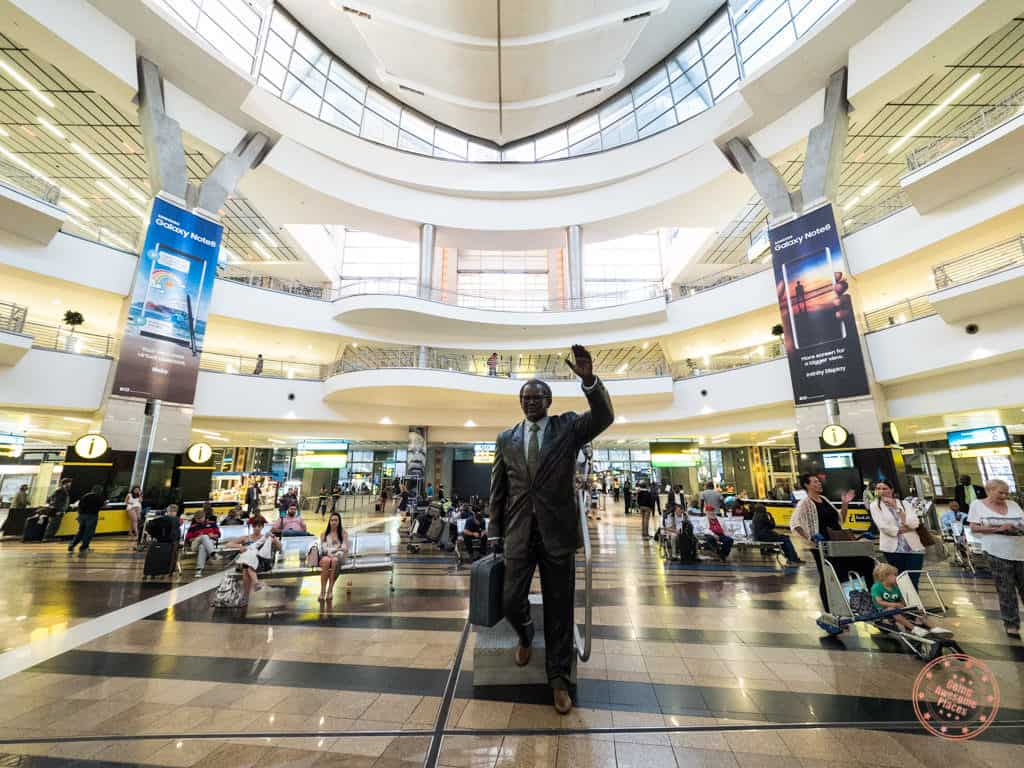 or tambo international airport arrival hall