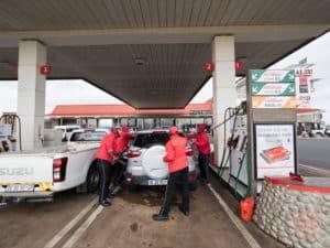 petrol station attendants at alzu petroport