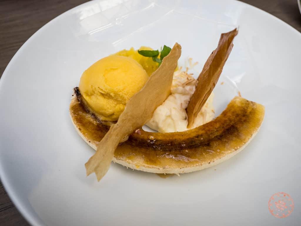 sassafraz dessert caramelized banana