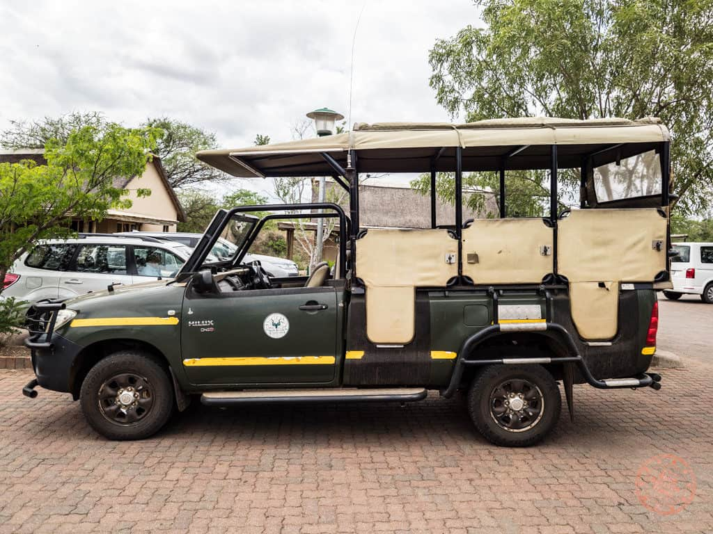 smaller safari trucks at kruger for bush walks