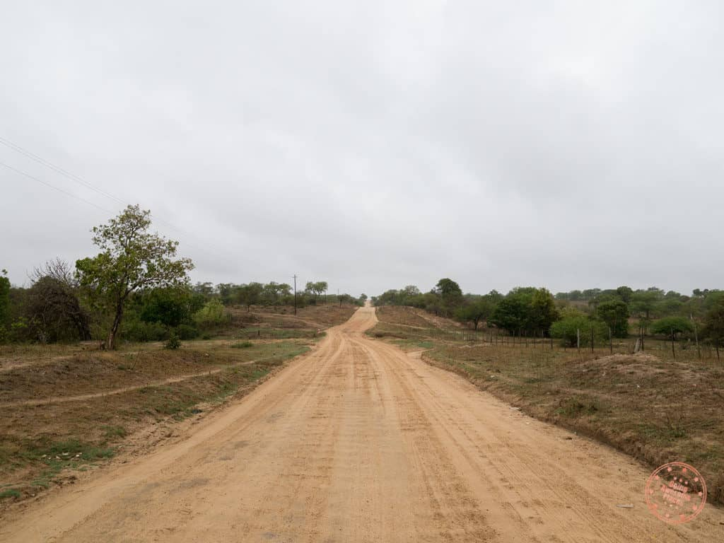 unpaved road to sabi sands gowrie gate