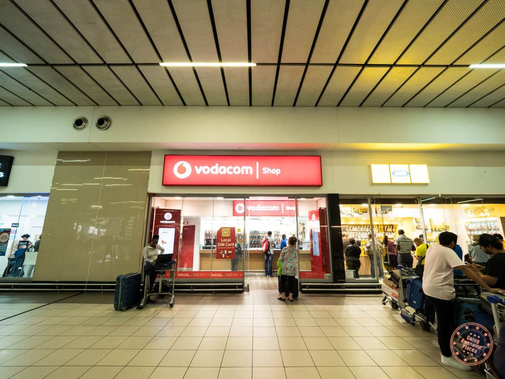 vodacom outlet at or tambo johannesburg airport planning safari in south africa
