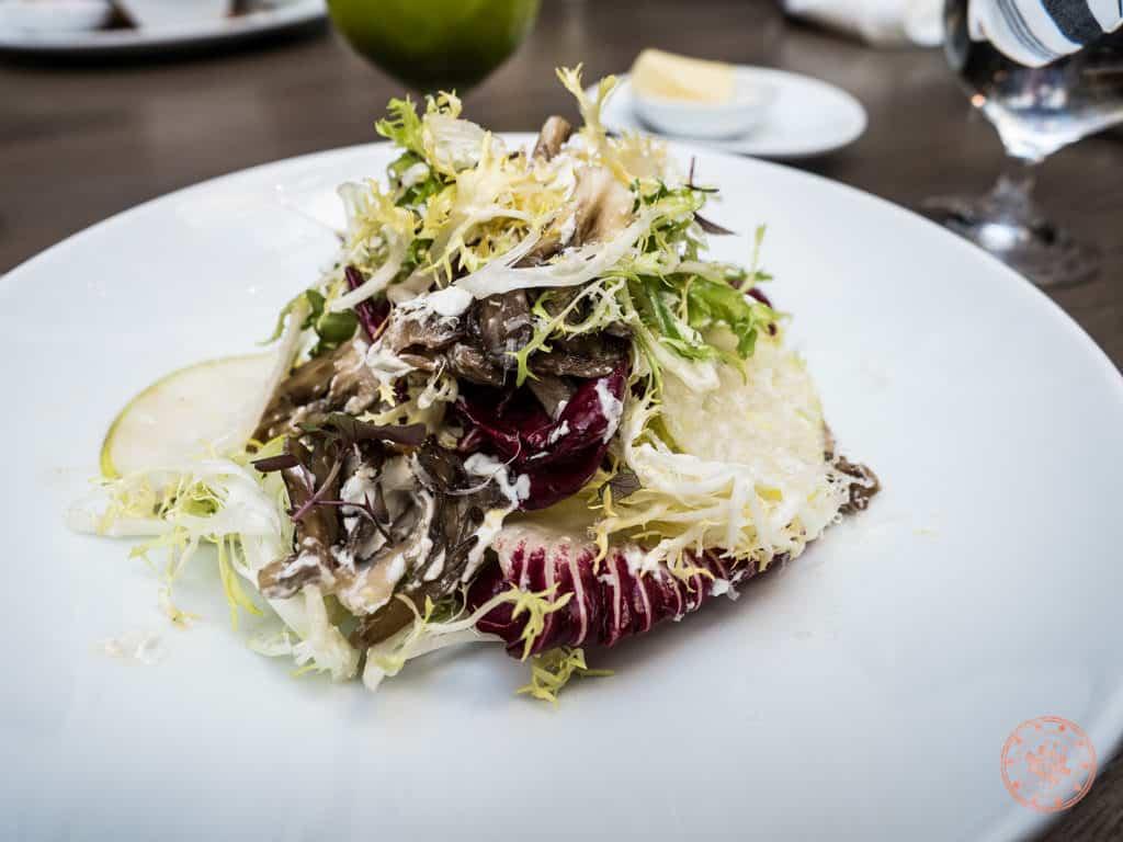 warm maitake mushroom salad